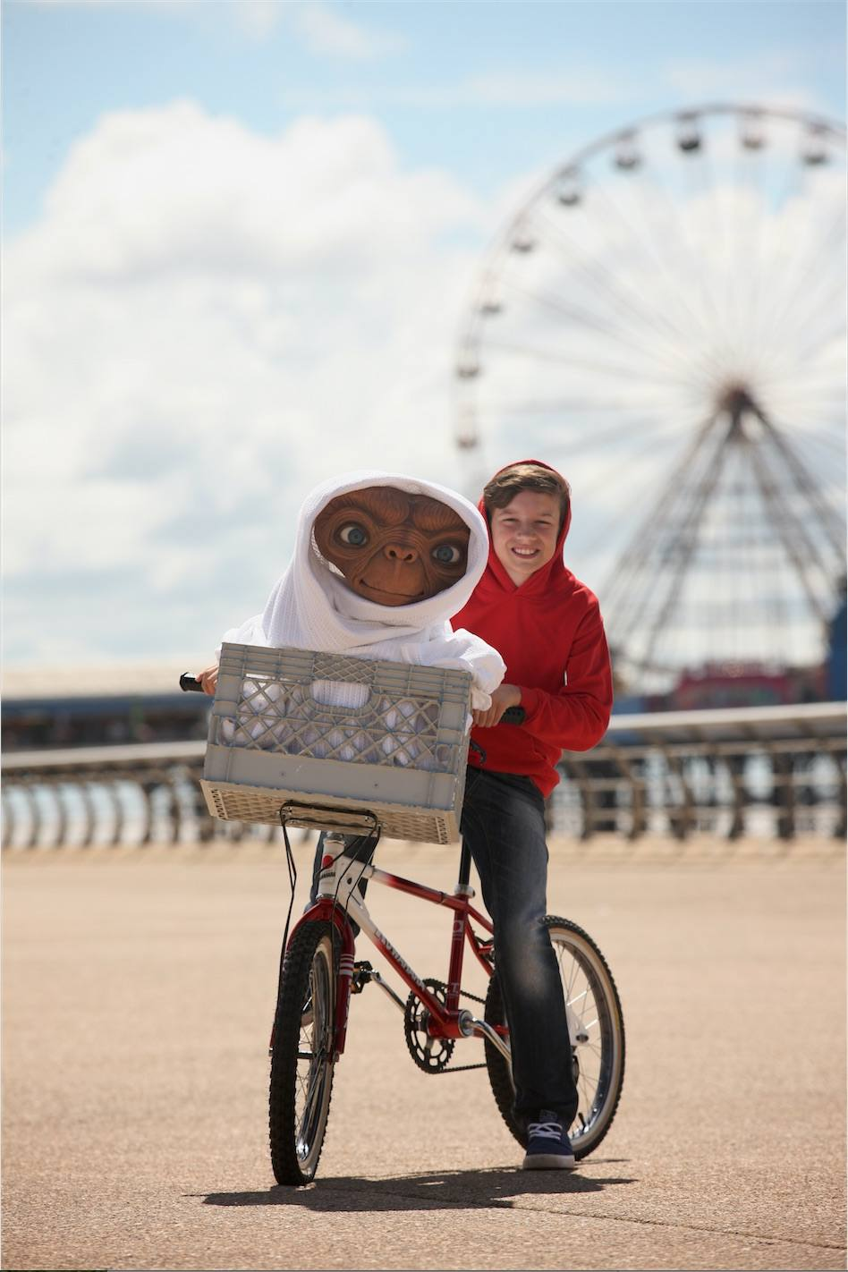 E.T. and Oliver whizzing down the central promenade