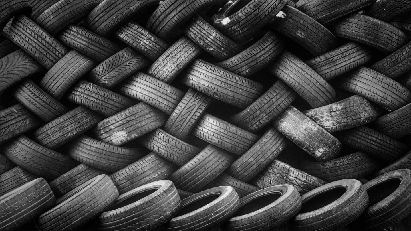 Pile of Used Tyres